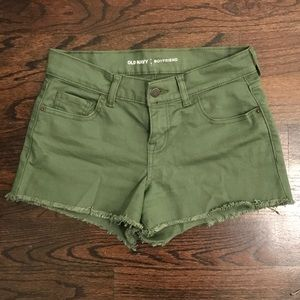Army green jean shorts